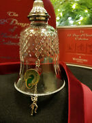 Waterford Crystal 12 Days Of Christmas 11 Pipers Piping Bell Ornament Mint Boxed