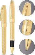 Sheaffer Legacy 23kt Gold And Continuous Herringbone Barrel Gel Ink Rollerball Pen