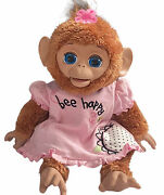 Fur Real Friends Cuddles My Giggly Monkey 17 Interactive Pet 2012 A1650 Talking
