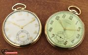 Lot Of 2 Vintage Gold Filled Open Face Pocket Watches Bulova And Waltham