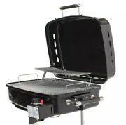 Flame King Portable Propane Grill Bbq Gas Side Mount Black Rv Outdoor Cooking