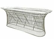 11782-101 Platner Style Oblong Stainless Steel Dining Or Console Table Base