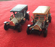 """Lot Of Two Antique Cars Pierce Arrow 303 And 305 For Model Train 2 1/2"""" Ho"""