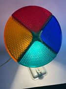 Vintage Holiday Rotating Color Wheel Light For Aluminum Christmas Tree/works