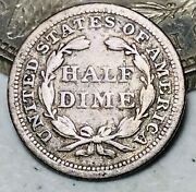 1853 Seated Liberty Half Dime 5c Arrows Ungraded Good Date Silver Us Coin Cc9679