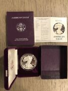 1986 S American Silver Eagle Proof Coin With All Boxes And Coa