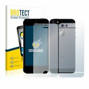 Apple Iphone 5s Front+back , 2x Brotect® Hd-clear Screen Protector Glass