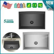 Durable Sink Country Farmhouse 304 Stainless Steel Single Bowl 16ga Apron Sink