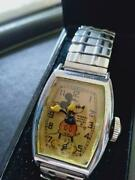 Vintage Seiko Mickey Mouse Menand039s Watch Used Authentic From Japan