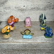 Lot Of 6 Disney Pixar Finding Dory Nemo Characters Figures Toys Cake Toppers