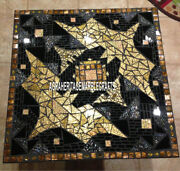 Marble Top Side Dining Table Inlay Stone Living Room Furniture Decorative H4046