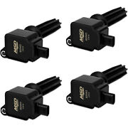 Msd Ignition Coil 4pk Fits Ford Eco-boost 2.0l/2.3l Black 825943
