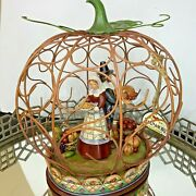 Jim Shore Blessed Be The Bounty 11 1/2 Tall Thanksgiving Centerpiece Boxed El59