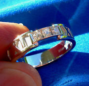 Real Atlas Collection Diamond Roman Numeral Ring White Gold Band 10.25
