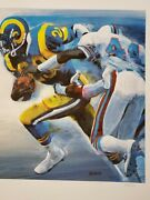 Los Angeles Rams Eric Dickerson Rushing To A Record Thomas Needham Lithograph