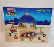 N6010 Fisher Price Little People Nativity Set Manger Light And Sound 17 Pc Unused