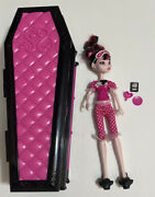 Monster High Dead Tired Draculaura Jewelry Box Coffin Bed And Doll Set