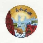 Julie Mar/abigal Cecile Santa Over Nyc Ornament Handpainted Needlepoint Canvas