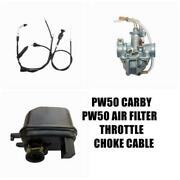 Carby Air Filter/throttle/choke Cable Yamaha Peewee Pw 50 Pw50 Py50 Yzinger Bike