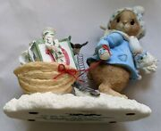Priscilla's Mouse Tales I'll Be Home For Christmas Enesco Figurine No Box