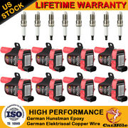 D585 Ignition Coil Pack Andspark Plug For Chevy Silverado Gmc Ls1 Ls3 4.8 5.3 6.0l