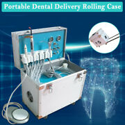 Dental Delivery Unit Rolling Box Mobile Led Curing Light Ultrasonic Scaler 3-way