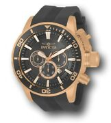 Corduba Menand039s 52mm Rose Gold Gray Dial Silicone Chronograph Watch 33704