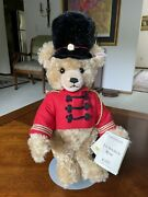 Vintage 1996 Steiff Musical Toy Soldier Bear W/tags Welcome To Our World Of Toys