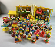 Vintage Over 100 Piece 60s 70s Fisher Price Play Family House With Little People