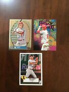 Mike Trout 3-card Lot Of Special Insert Baseball Cards