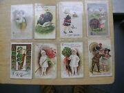 8-antique Christmas And Thanksgiving Postcards 4 Are Ellen H. Clapsaddle