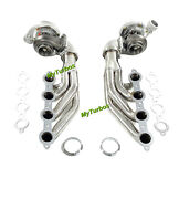 For Chevy Ls Ls1 Ls2 Small Block V8 T66 Ar.70/.63 Oil Cold V Band Turbo+manifold