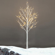 Pre Lit White Birch Tree Christmas Holiday Party Decorations Starlit Tree For In