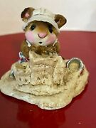 Wee Forest Folk Mousey's Beach Sandcastle 1982 Practically Perfect