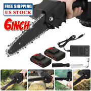 6inch Portable Cordless Electric Handheld Chainsaw For Tree Pruning Wood Cutting