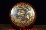 12.4collecting Chinese Antiques Qianlong Marked Wood Lacquerware Big Holding Box
