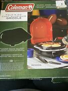 Coleman Fold N Go Cast Aluminum Griddle Accessory New Unused For Grill Camping