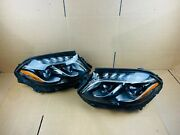 2017 2018 2019 Mercedes Gls W166 Right And Left Set Pair Oem Headlight 17 18 19