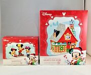 Dept 56 Lot Of 2 Mickey's Toy Store + Mickey's Toys Disney Village Department56