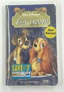 Lady And The Tramp Disneyand039s Masterpiece Collectible Vhs 1999 Nm Sealed