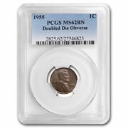 1955 Lincoln Cent Doubled Die Ms-62 Pcgs Brown - Sku162376