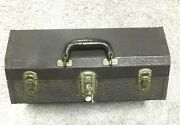 Vintage 747 Kennedy Metal Tackle Box 4 Trays And Large Bottom Compartment