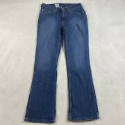 """Womens Traditional Fit Jeans Size 6 X 29"""" Dark Wash Boot"""