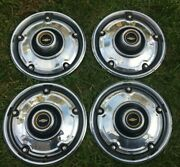 1969 1970 1971 1972 Chevy Truck Deluxe Lug Nut Style 15 Hubcaps Set Of 4 Oem