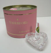 Crystal Heart Ring Holder Waterford Box Marked A Reminder Of How Much I Love You