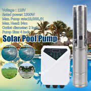 Deep Well Solar Water Bore Pump Kit110v 2hp Irrigation Farm Submersible Off-grid