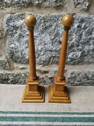 A Pair Of Wooden Obelisks By Toye And Co