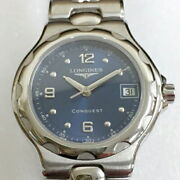 Longines Conquest Date L1 131 4 Navy Quartz Womenand039s Watch Scratches And Dirt