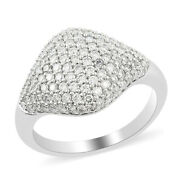 Cluster Ring Rhapsody White Diamond 950 Platinum Jewelry For Women Size 7 Cts 1