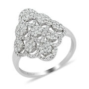 Jewelry For Women Rhapsody 950 Platinum White Diamond Ring For Gift Size 10 Ct 1